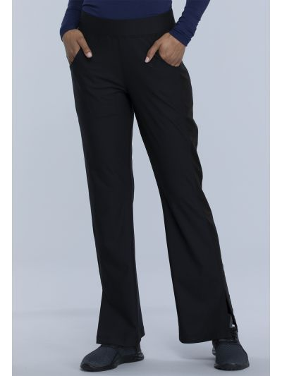 Mid Rise Moderate Flare Leg Pull-on Pant