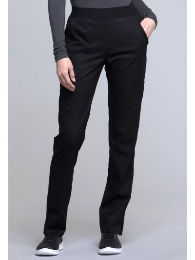 Natural-Rise Tapered Leg Pant