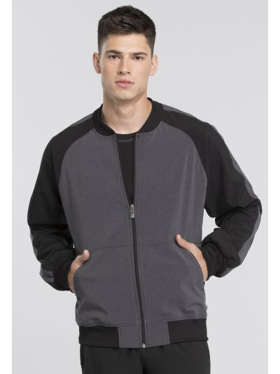Men's Colorblock Zip Front Jacket