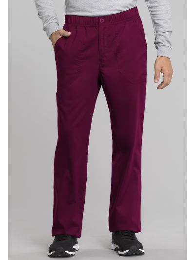 Men's Mid Rise Straight Leg Zip Fly Pant