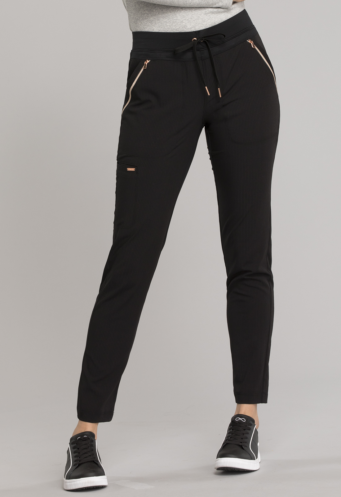Mid Rise Straight Leg Drawstring Pants