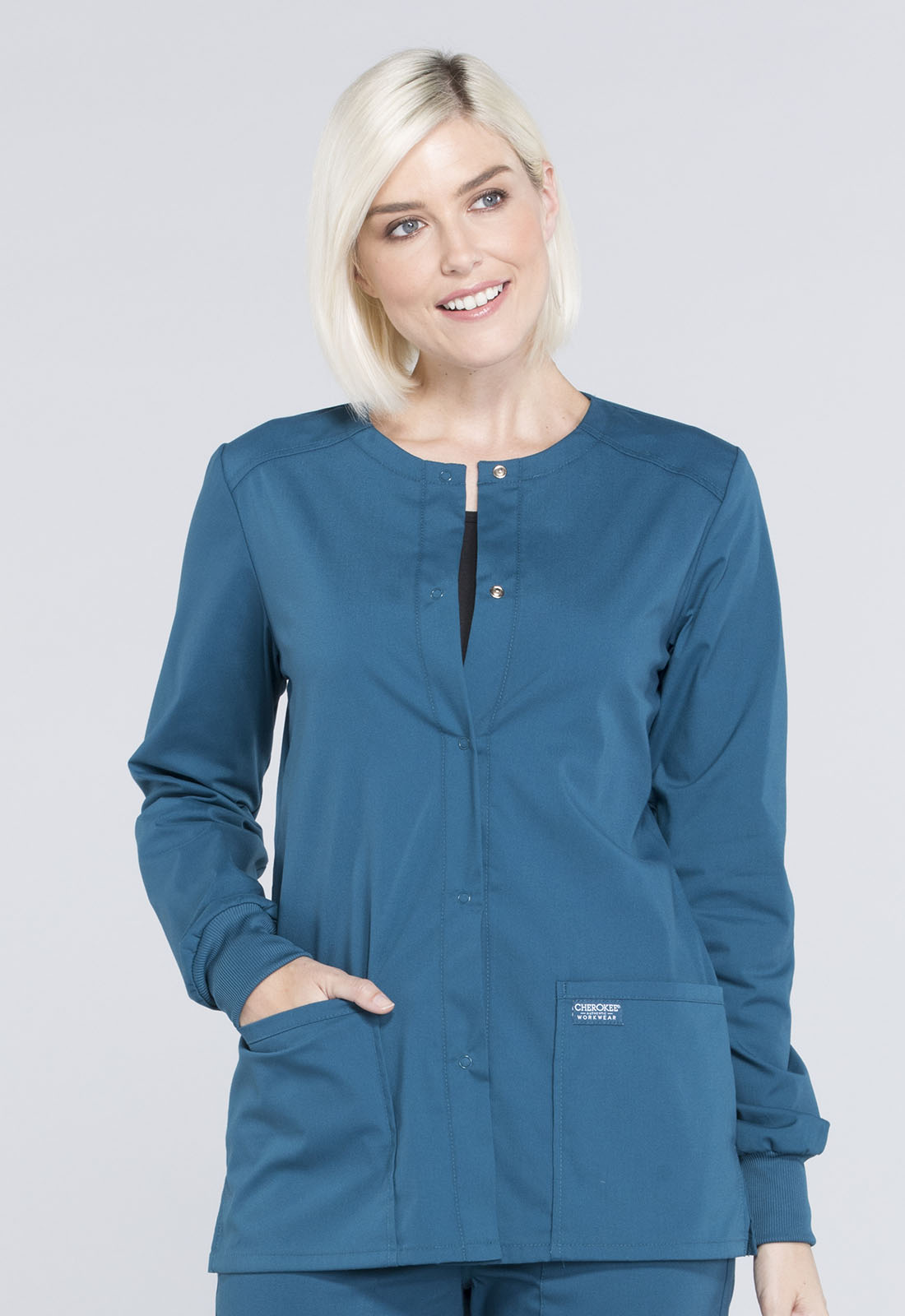 Snap Front Warm-up Jacket