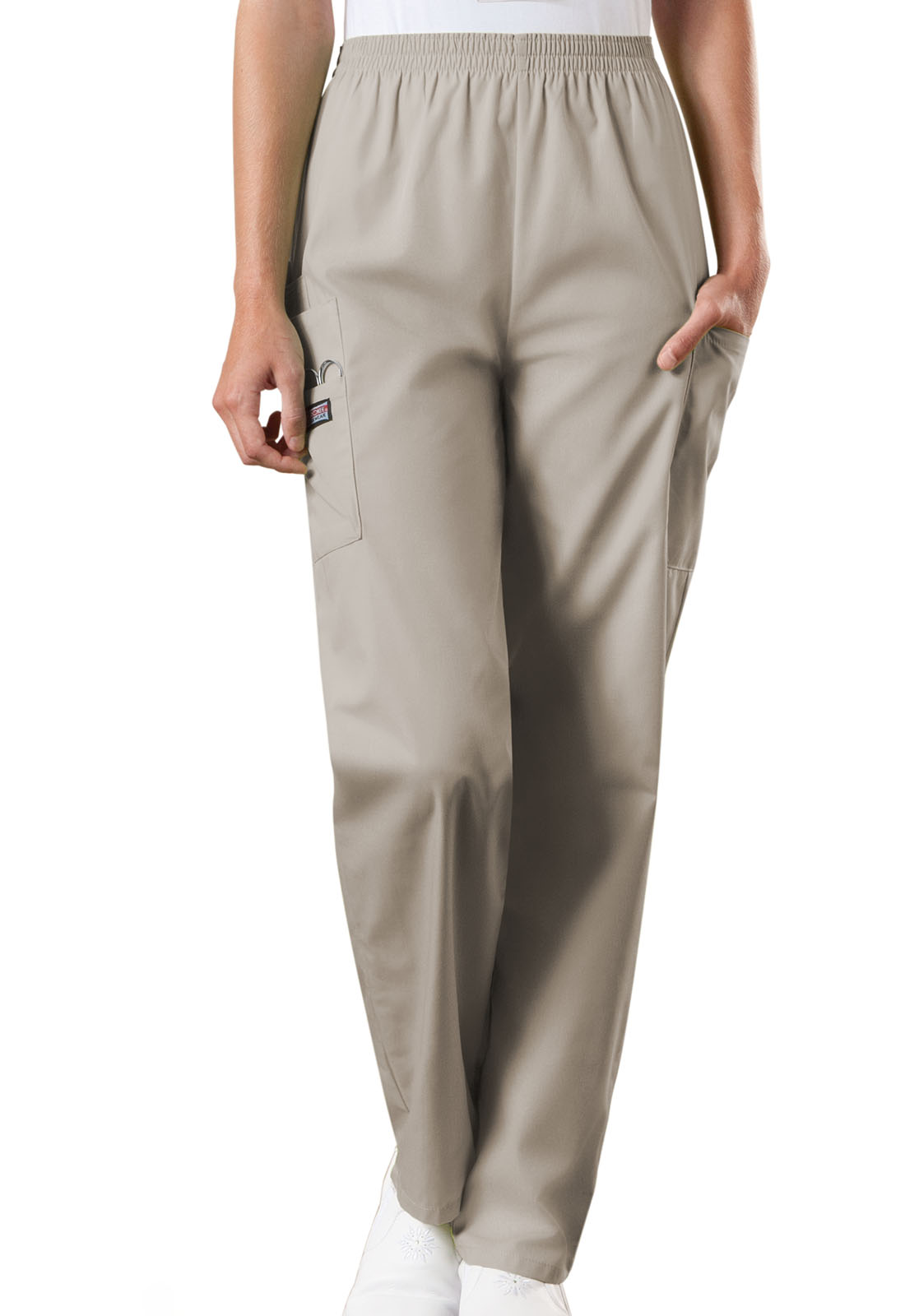 Natural Rise Tapered Pull-On Cargo Pant