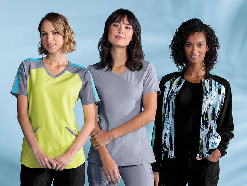 Group of women wearing Infinity apparel.